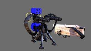3d model sentry gun munition