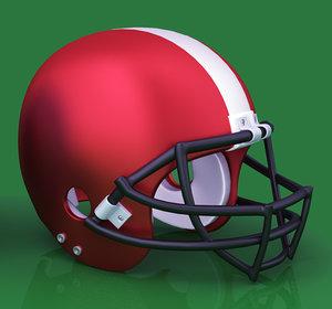 3d american football helmet model