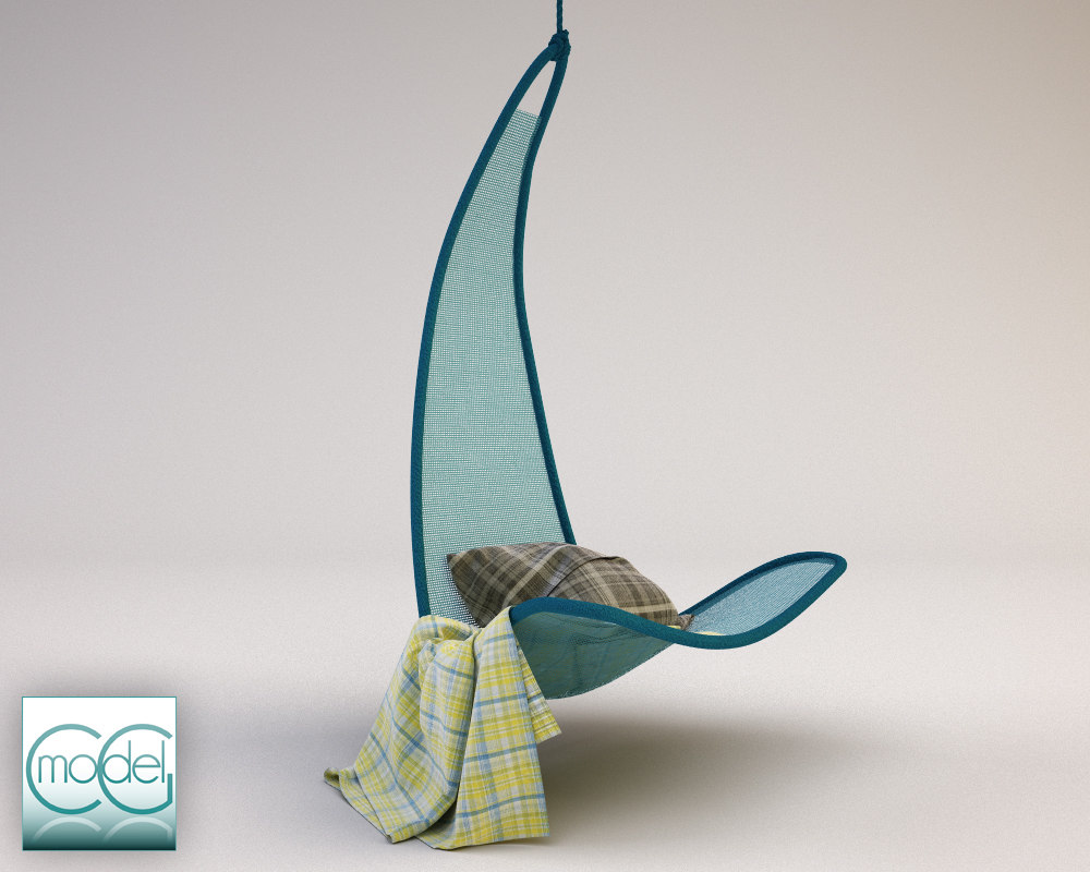 hanging chair svinga 3d model