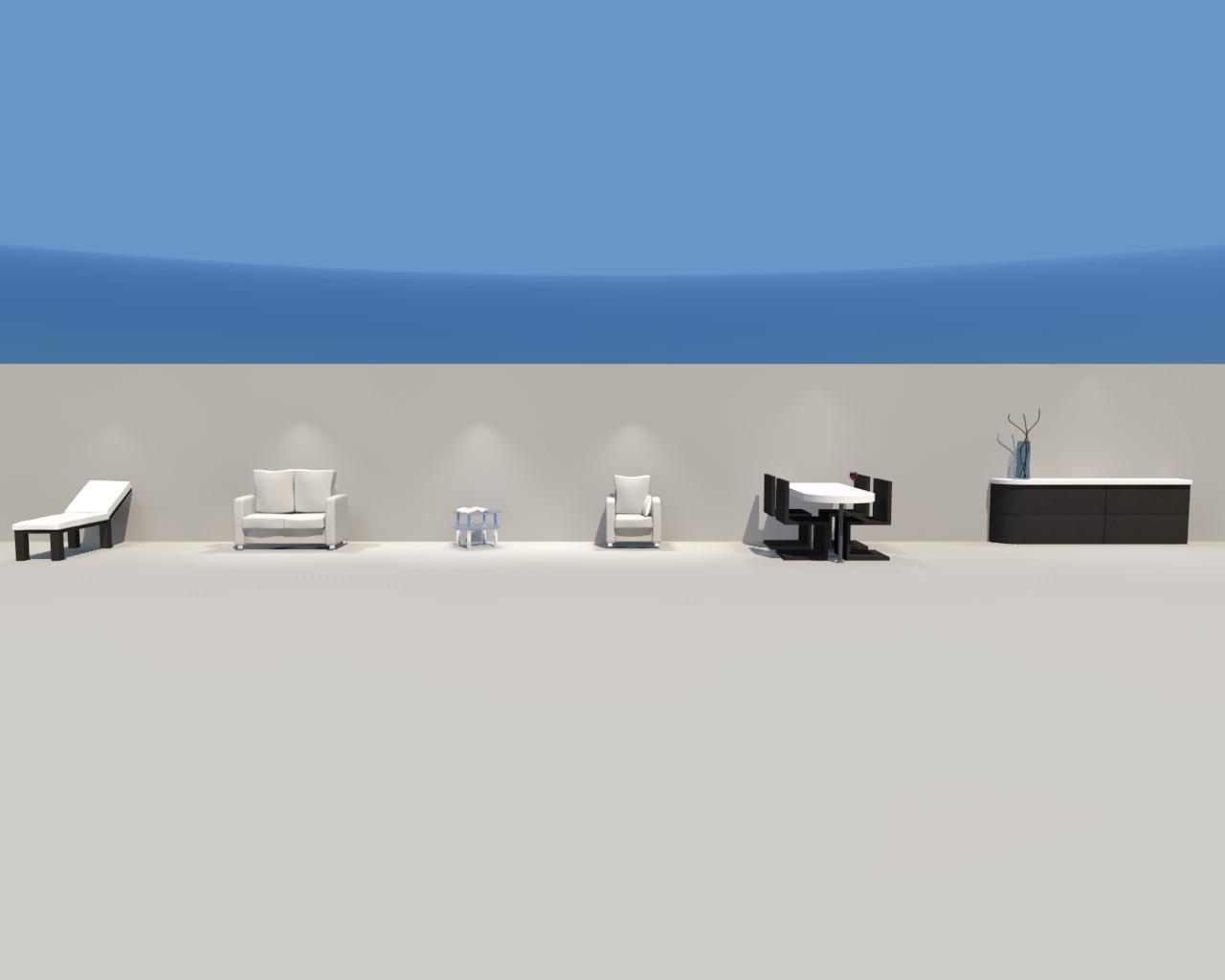 3d furnishing model
