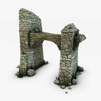ruins rocks 3d max