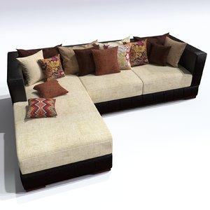 sofa kingston 3d model
