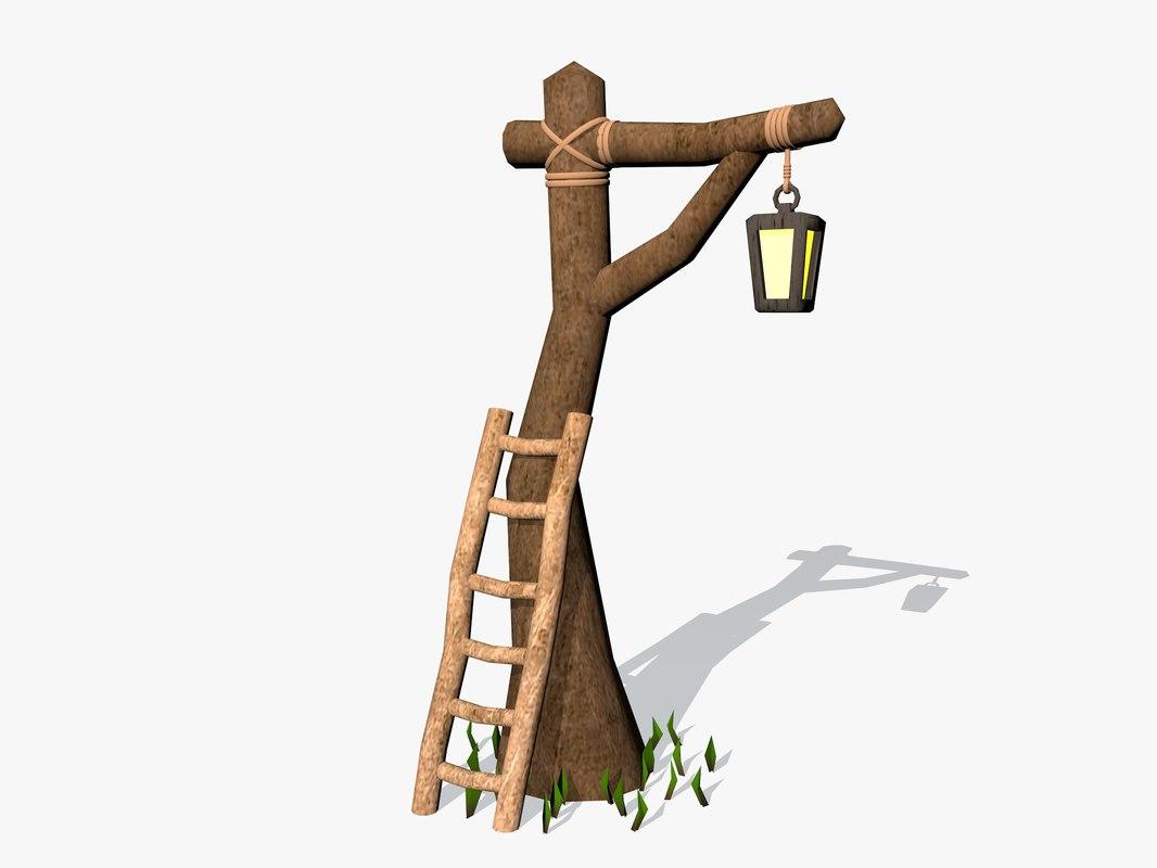 3d scene lamp architecture model