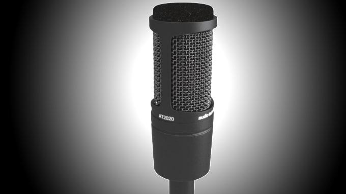 3d 3dmodel audio-technica at2020