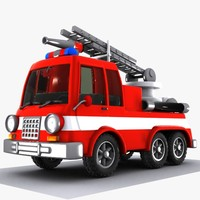 Cartoon Fire Truck 1