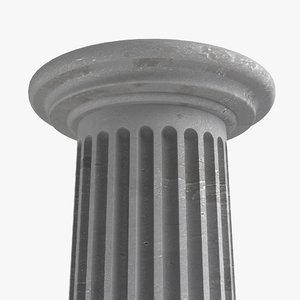 free obj model concrete column