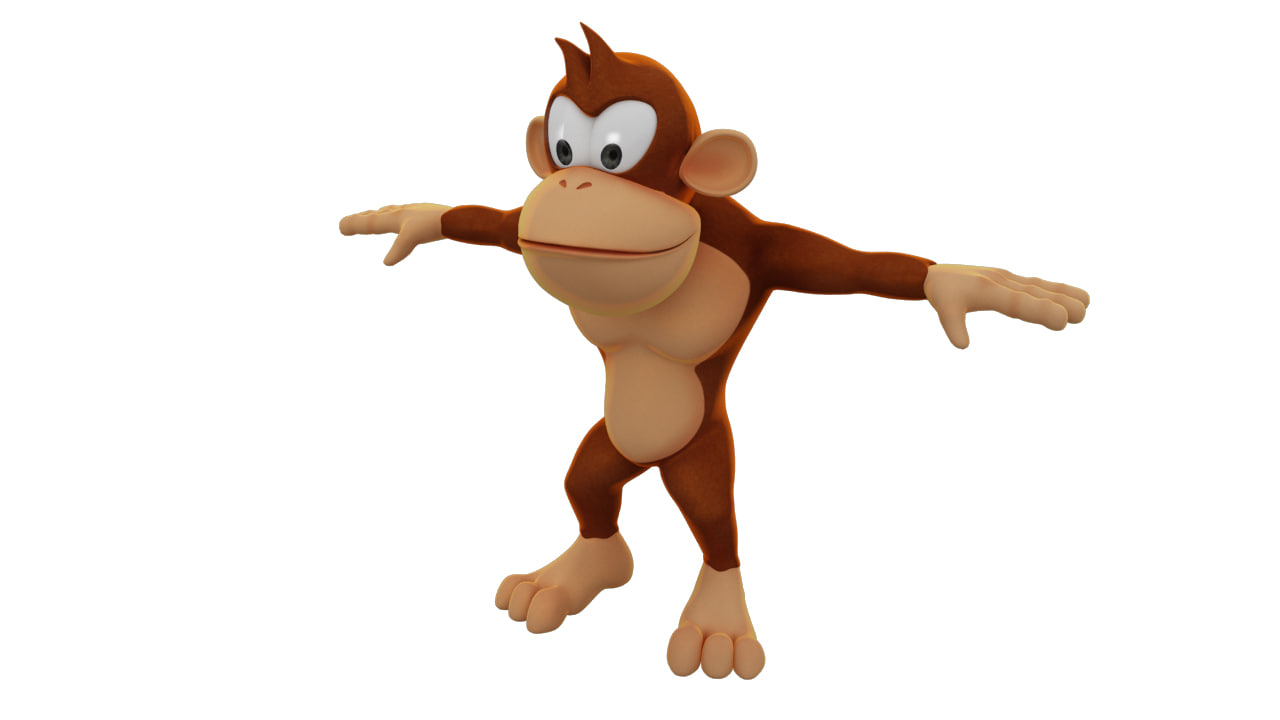 3d cartoon monkey character 1