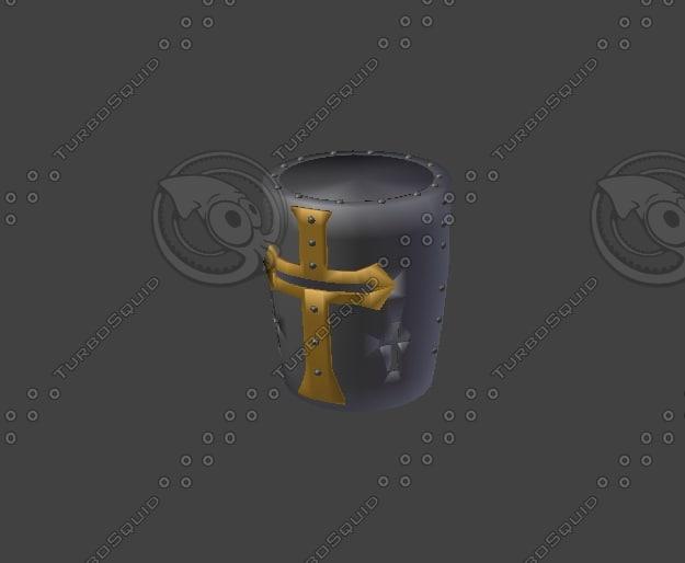 medieval helmet 3d 3ds