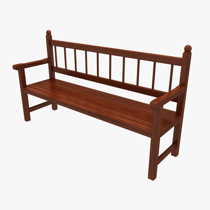 3ds max wooden bench wood