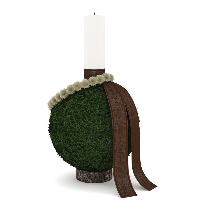 sphere candle christmas 3d model
