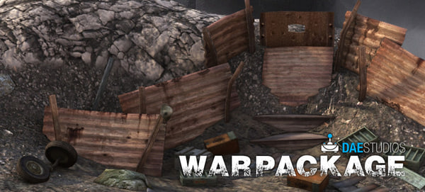 stakes crimplates rocks 3d fbx