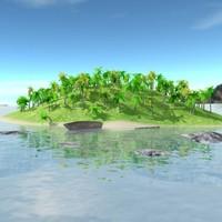 3d island land model