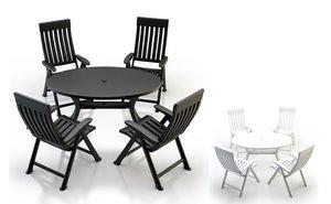 plastic garden furniture obj