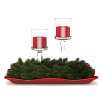 c4d table decoration christmas