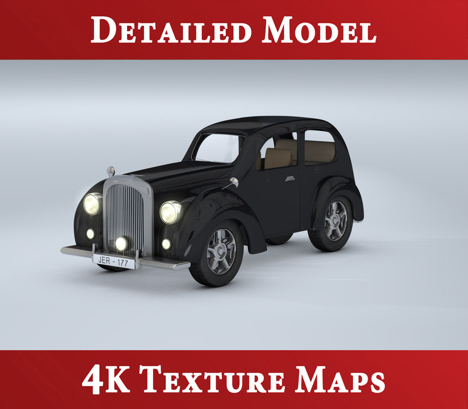 classic bentley automobile 3d model