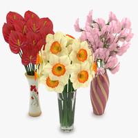 bouquets vase obj