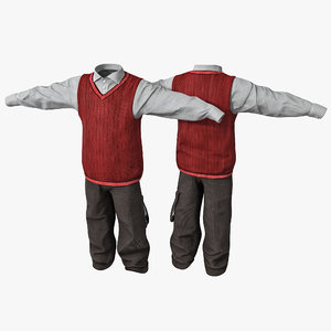 boy clothes 2 3d obj