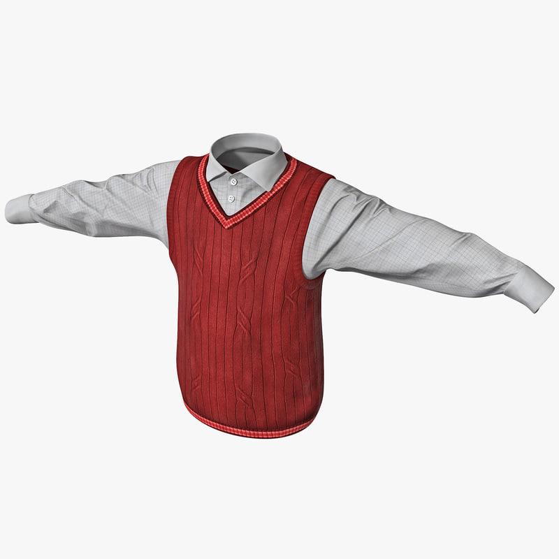 boy shirt vest 3d lwo