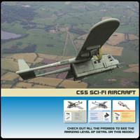 c-55 transport aircraft rex 3d pz3
