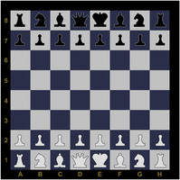 Chess demo board with figures.