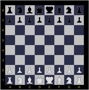 3d model chess demo board figures