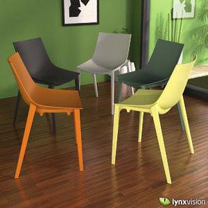 3d model of zartan basic chair philippe starck