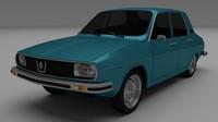 3d model renault 12 dacia 1300