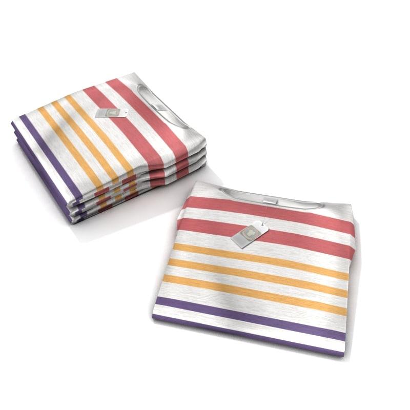 3dsmax folded t-shirt