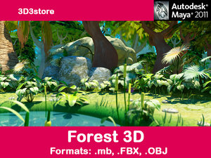 trees forest 3d model