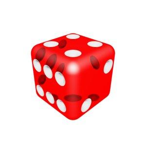 3d transparent dice model