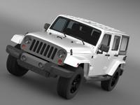 3d jeep wrangler freedom edition model