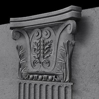 3d model of pilaster pillar column