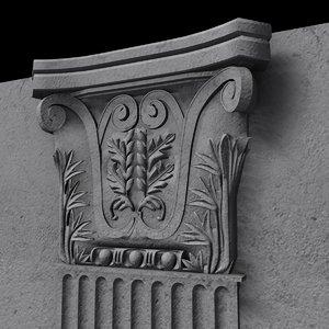 3d model of pilaster pillar column
