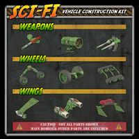 Sci-Fi Construction Kit - Vehicles (for Poser)
