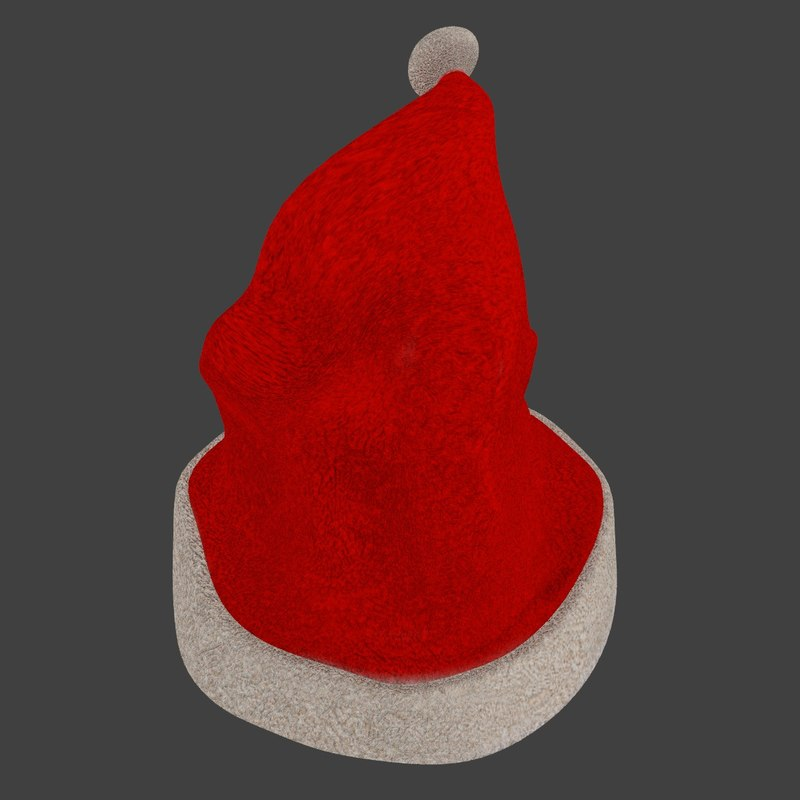 free santa hat 3d model