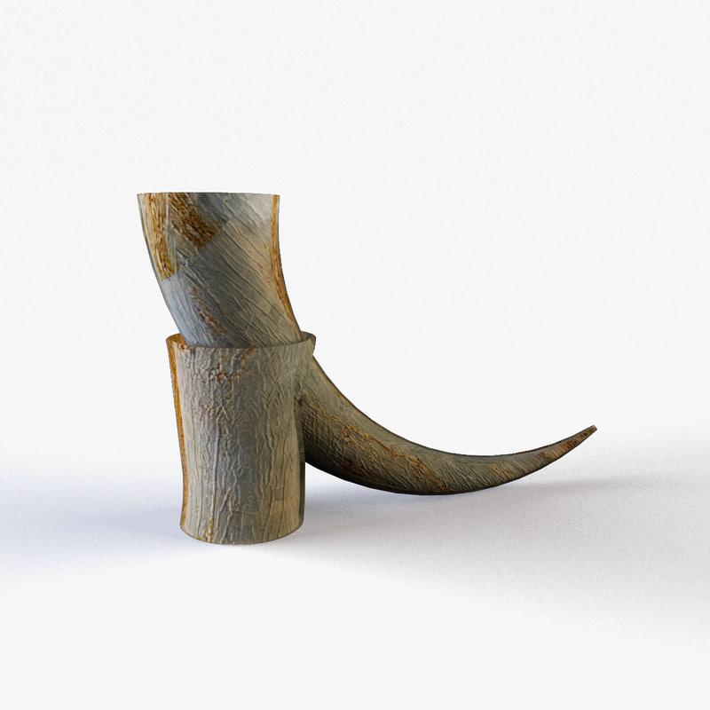 3d viking horn
