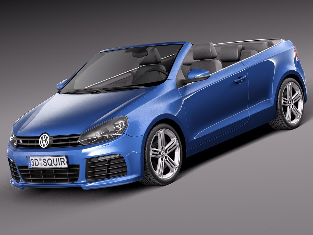 2014 convertible volkswagen 3d model