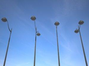 lampadaire street light 3d max