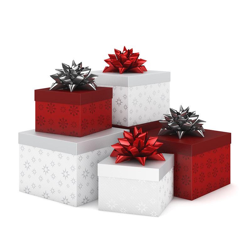 present christmas 3d c4d