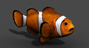 clownfish fish 3d obj