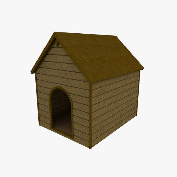 3d basic dog kennel