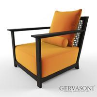 gervasoni otto armchair 3d max
