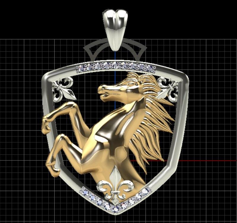 3d pendant horses
