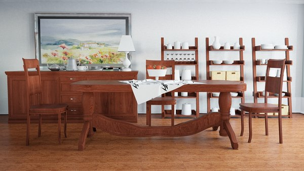 kitchen dinning room 3d model