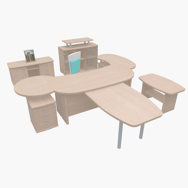 furniture office 3d model