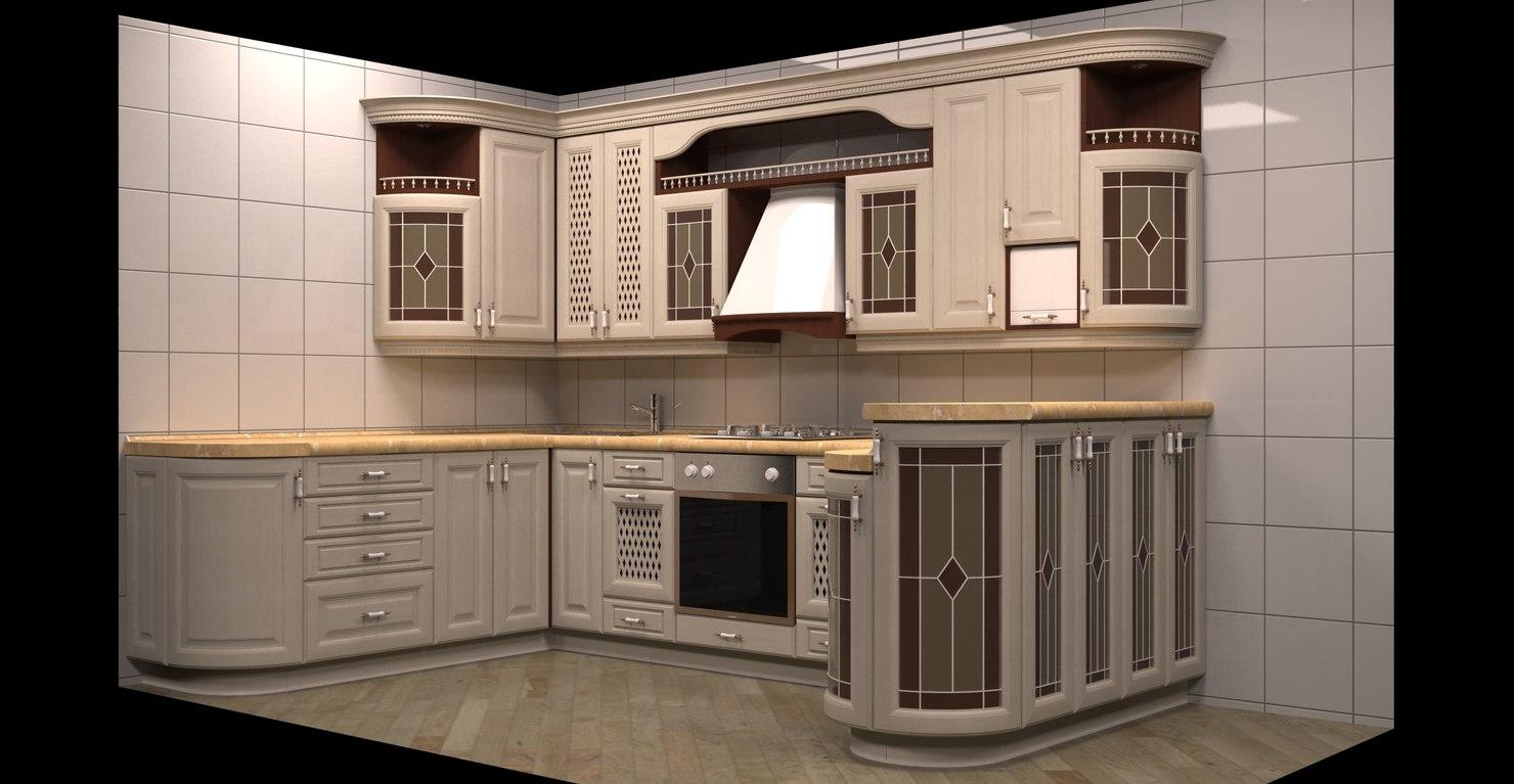 3ds max kitchen design. 3ds max kitchen classic