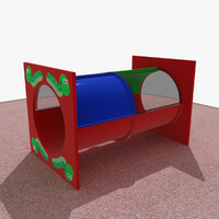 3d playground tunnel