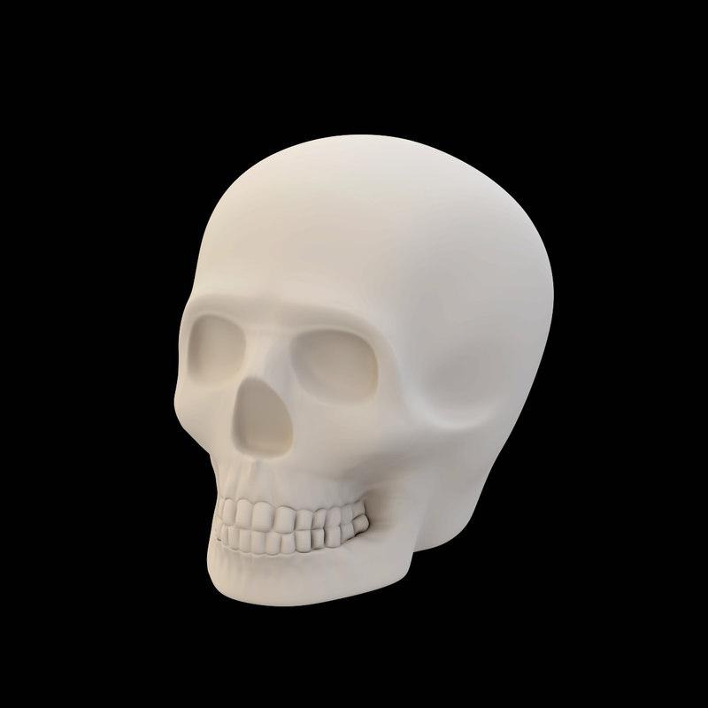 skull printed 3d obj