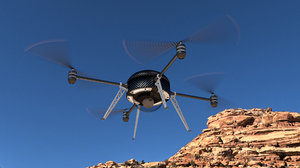 unmanned quadcopter drone 3ds