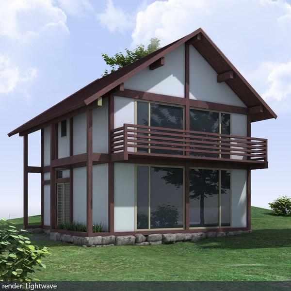 small japan house 3d lwo